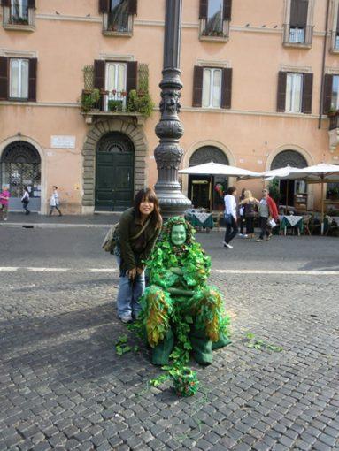 ローマのストリートパフォーマー