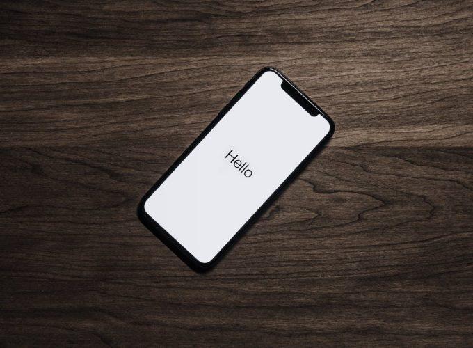 iPhone says hello