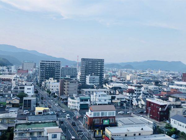 エンシティホテル延岡 屋上からの景色