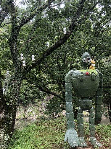 村人が作ったロボット兵?