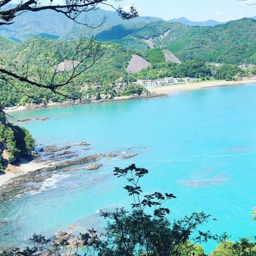 小高い丘より須美江ビーチを望む