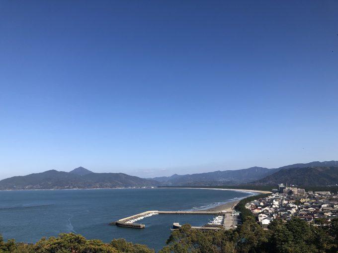 唐津城天守閣からの景色 「虹の松原」の美しい風景