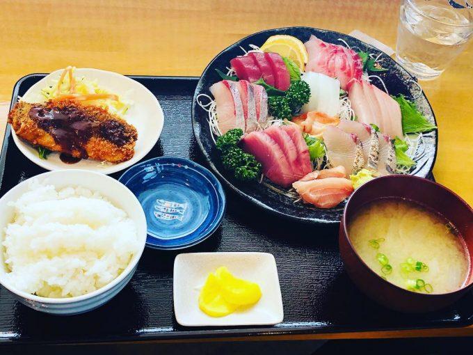 宮崎県延岡市 「ふらっとごはん。」の刺身定食