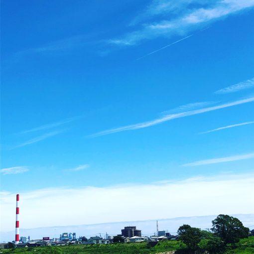 台風前の延岡市